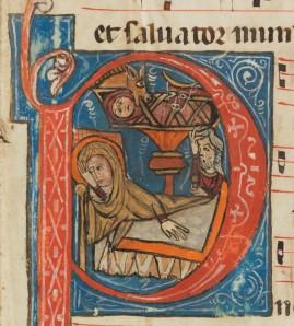 Freiburg, Couvent des Cordeliers / Franziskanerkloster, MS 9, fol. 11r. (Courtesy e-codices)