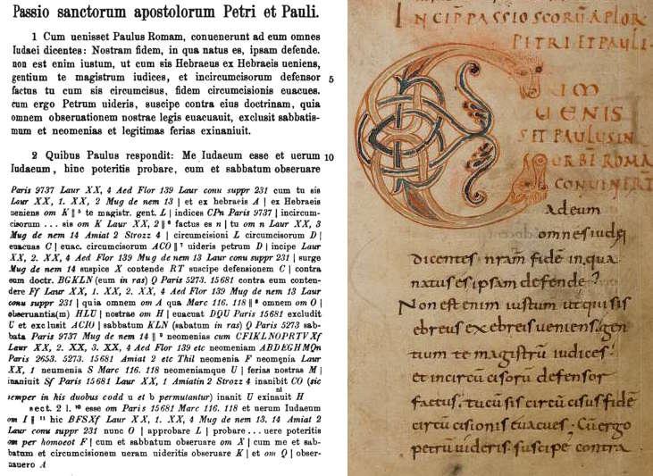 Pseudo-Marcellus Passio Petri et Pauli in Modern Printed Edition and Weissenburg 48.