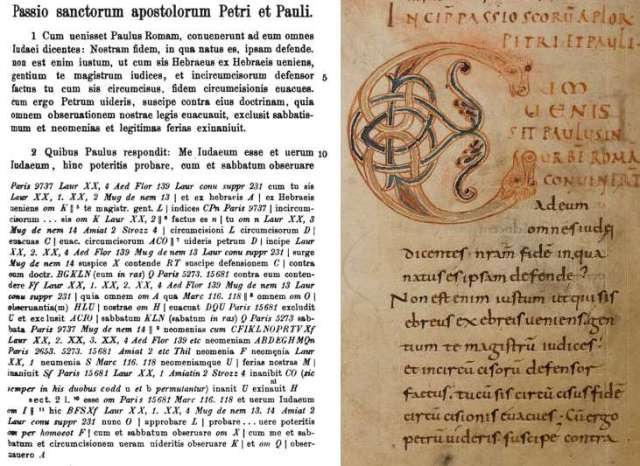 Pseudo-Marcellus Passio Petri et Pauli in Modern Printed Edition and Weissenburg 48.