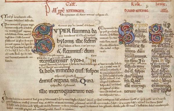 Eadwine Psalter folio 243v detail