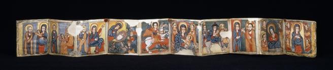 Ethiopian_-_Sensul_(Folding_Illuminated_Book)_-_Walters_3610_-_Open